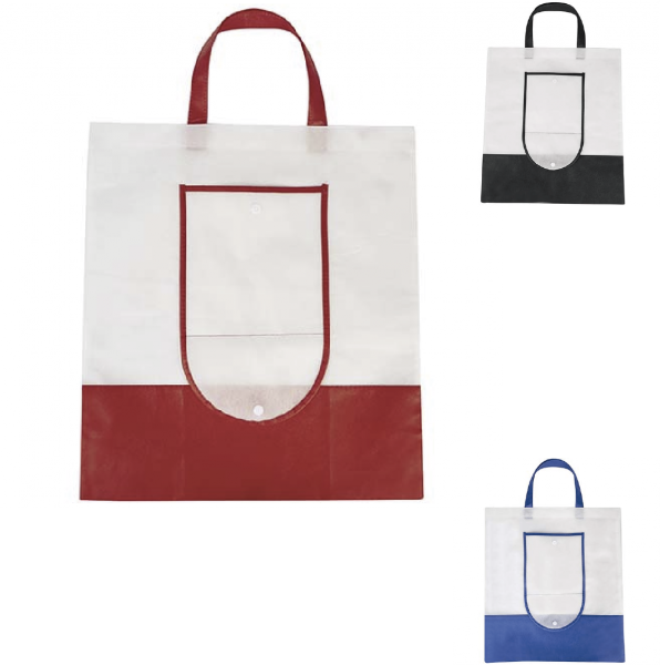 db7bfed5d BOLSA TARAFA SIN 238 (Bolsa plegable con broche de plástico. ) MEDIDA: 18 x  10 cm (cerrada) 40 x 45 (abierta) MATERIAL: NON WOMEN